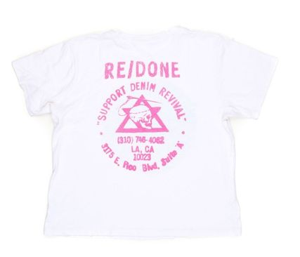 RE DONE Tシャツ・カットソー 人気急上昇!!エマロバーツ愛用 RE DONE VINTAGE WHITE Tシャツ(3)