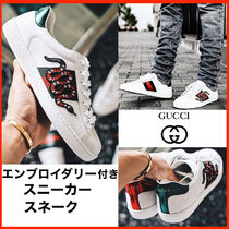 【GUCCI】 Ace ロートップスニーカー★スネーク