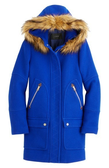 【送料込】J.Crew Chateau Stadium Cloth Parka with Fau コート