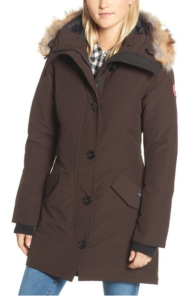 関税送料込 Canada Goose Rossclair Genuine Coyote Fur Trim ♪
