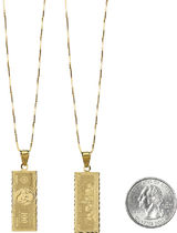 国内 Supreme 100 Dollar Bill 14K Gold Pendant ゴールド