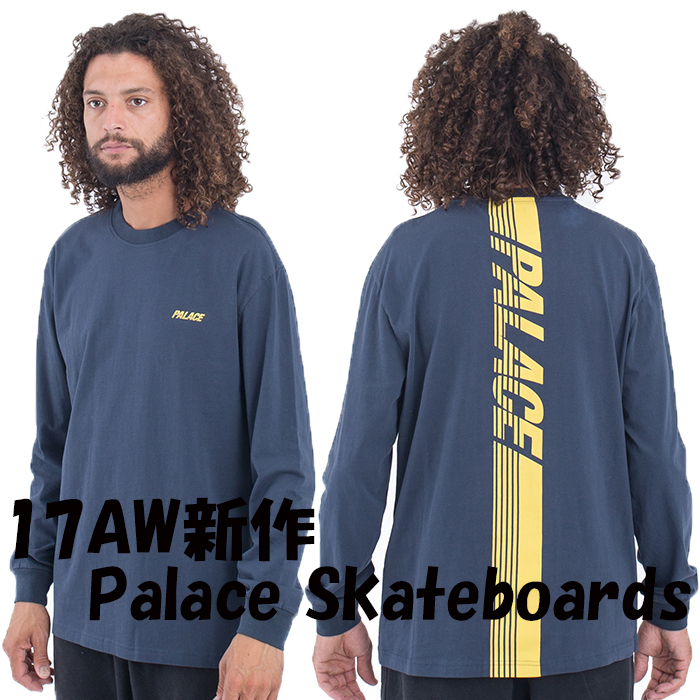 17AW新作 Palace Skateboards Line Stripe 長袖Tシャツ
