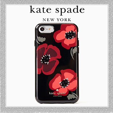 【新作☆】kate spade jeweled poppy iphone 7/8 case