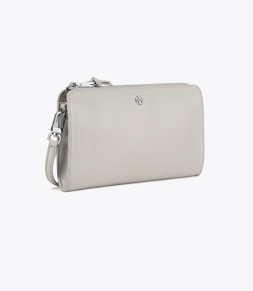 TORY BURCH ROBINSON PEBBLED WALLET CROSS-BODY