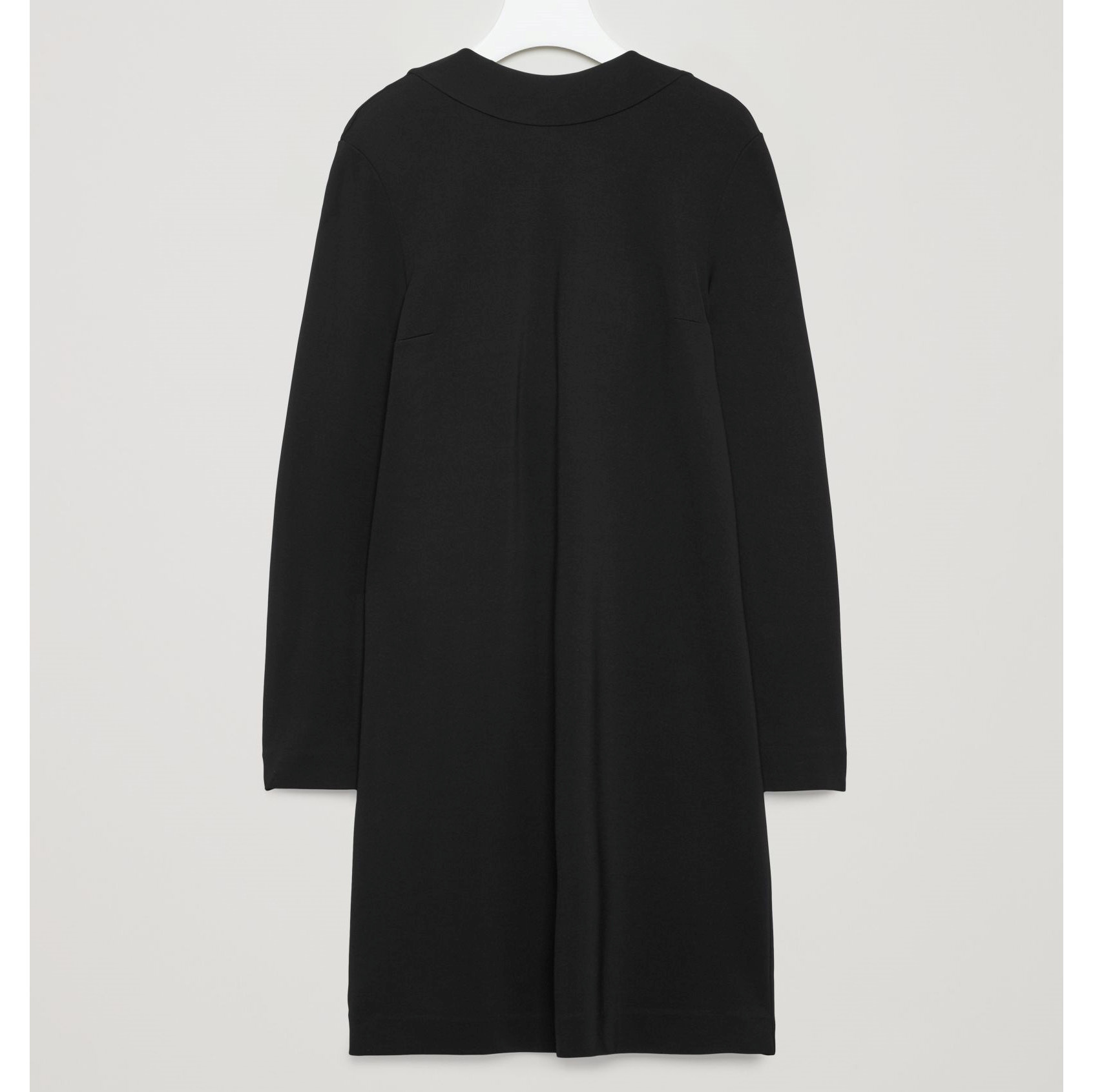 COS☆DRESS WITH DRAPED BACK  / black