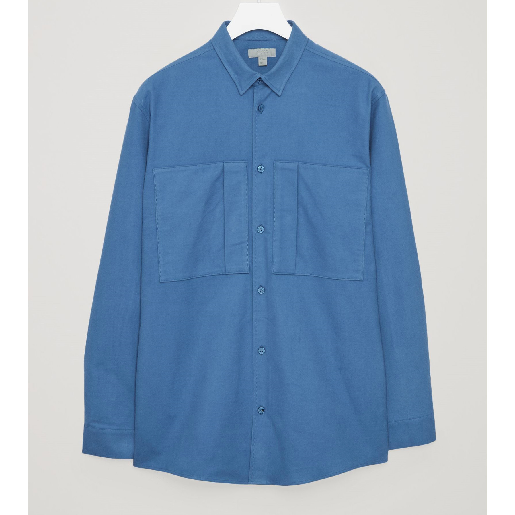 COS☆RELAXED SHIRT WITH FRONT POCKETS / blue