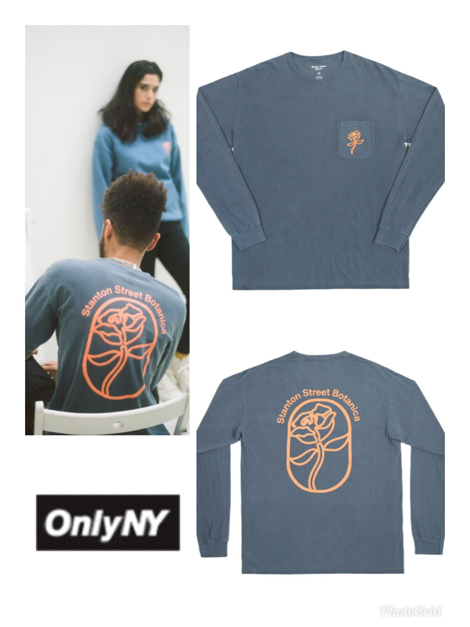 送料関税込★本店買付★ONLY NY★Stanton Botanica L/S Pocket T