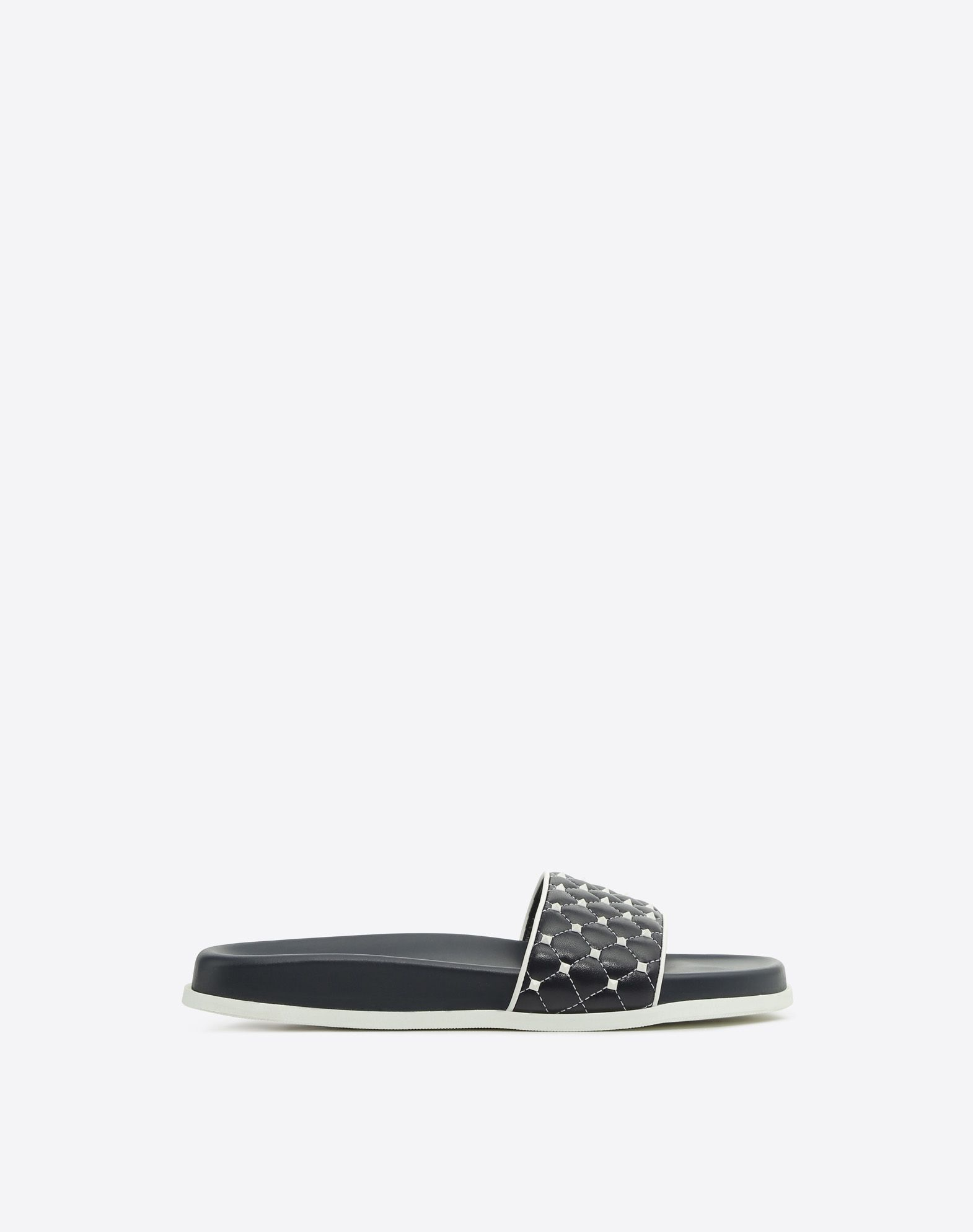 【17AW NEW】VALENTINO_women /ROCKSTUD SPIKE SLIDE SANDAL/紺
