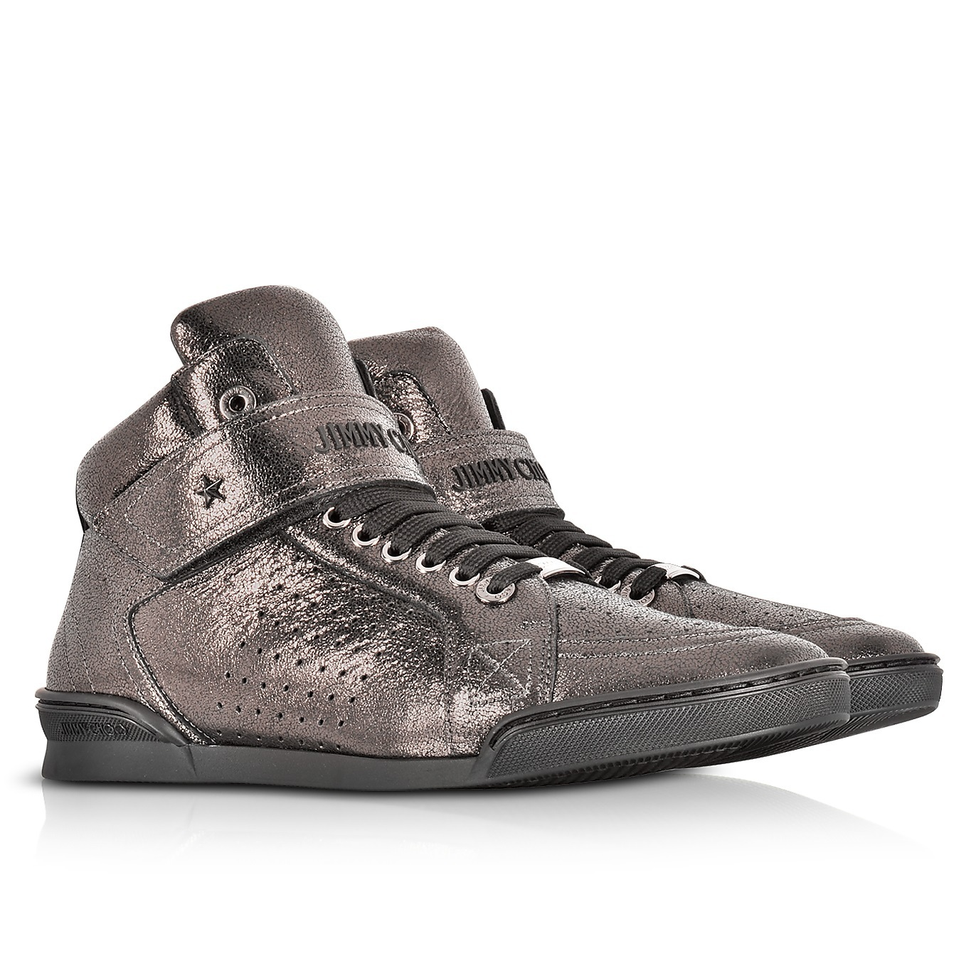 ★Jimmy Choo★ Lewis EOE Gunmetal Metallic スニーカー 関税込