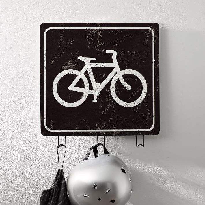 ☆Pottery Barn☆壁掛けフック☆Bike Sign Wall Hook