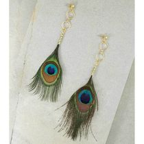 ピアス HE AZUL PEACOCK FEATHER EARRINGS Vanessa Mooney