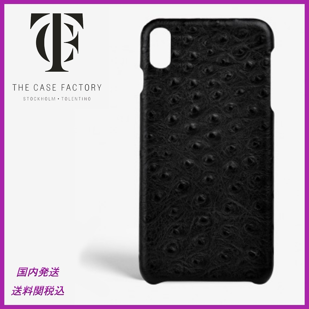 日本未入荷☆THE CASE FACTORY☆Ostrich Black iPhoneX case