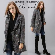 国発/送関込☆Chicwish☆Attraction Double Breasted Tweed Coat
