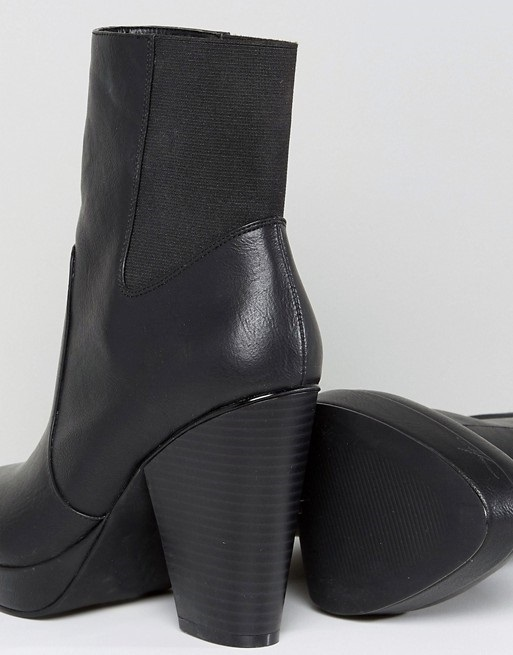ASOS EARTHLING Wide Fit High Ankle Boots♪