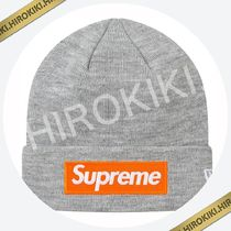 【17AW】Supreme New Era Box Logo Beanie ニット帽 ビーニー 灰