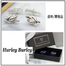 【HURLEY BURLEY】Solid Sterling Silver Love Knot Cufflinks