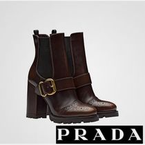 PRADA 遊び心溢れるリズミカルなデザイン Leather Ankle Boots