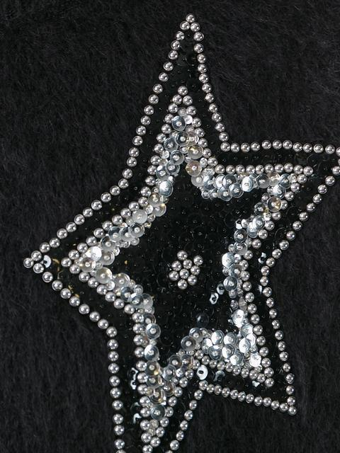【関税込】 star embellished knit jumper ニット