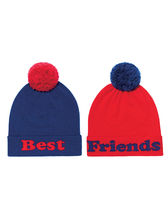 Band of Outsiders(バンドオブアウトサイダーズ) ニットキャップ・ビーニー ★限定品【NM+TARGET+BAND OF OUTSIDERS】BEST FRIENDS ニット帽