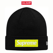 FW17★Supreme NewEra Box Logo Beanie -black
