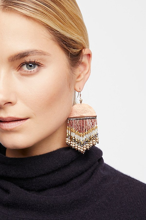 Free People フリーピープル Metallic Horizon Beaded ピアス