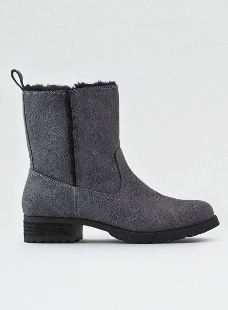 ☆American Eagle Outfitters☆ Fur shaft lug boot 2色