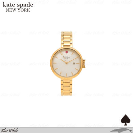 関送込♪kate spade♪PARK ROW STAINLESS STEEL WRIST WATCH GLD