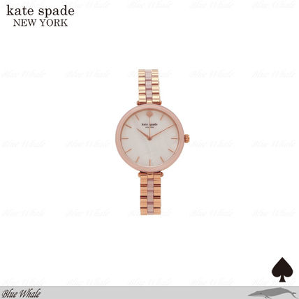 関送込♪kate spade NY♪ROSE ACETATE HOLLAND WATCH RSGLD/ROSE