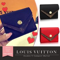 Louis Vuitton ルイヴィトン ★ DOUBLE V コンパクト ウォレット