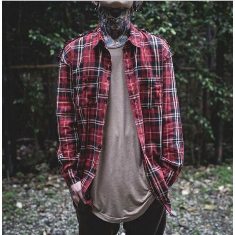 超人気★dsrcv DISTRESSED SHOULDER FLANNEL★【関税送料込】