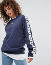 adidas Originals Adicolor TNT Tape Crew Sweat In Blue BR6744
