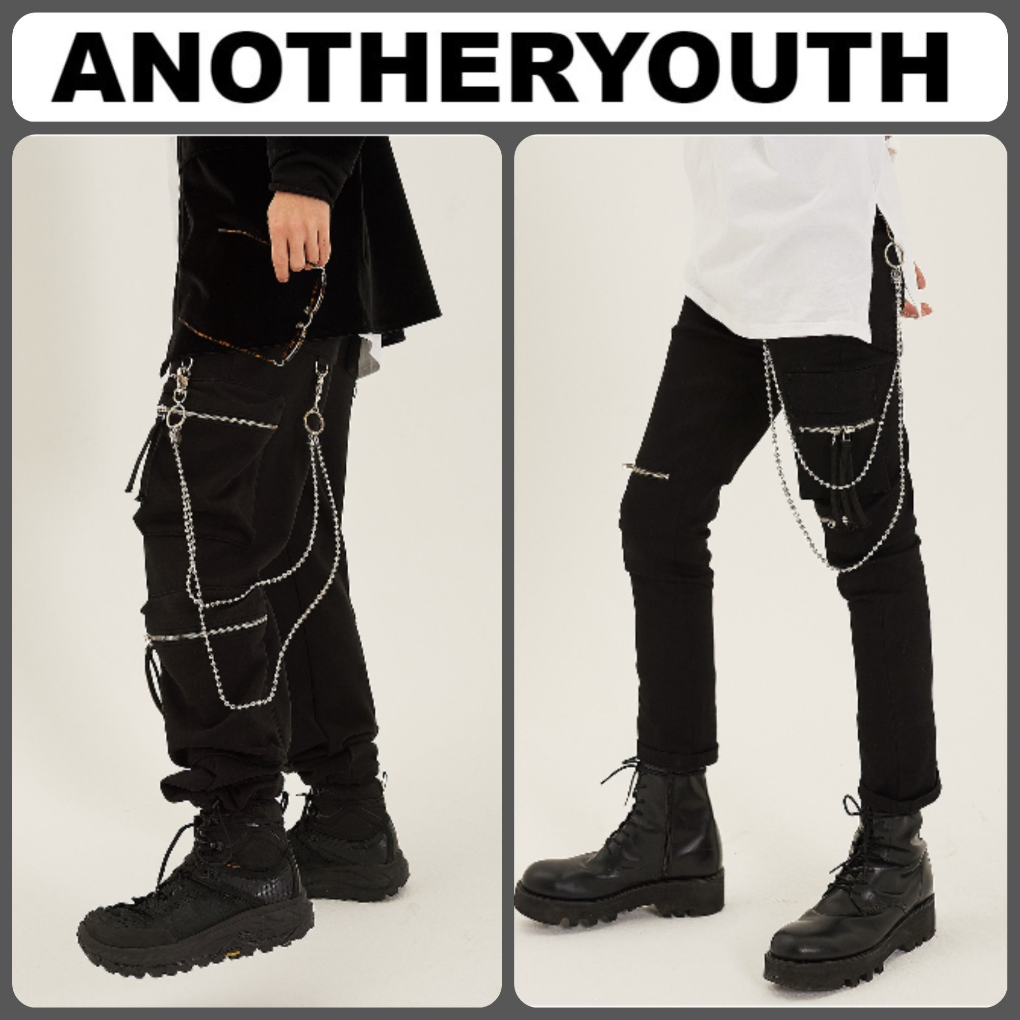 【ANOTHERYOUTH】正規品★韓国人気 2 ボール チェーン/追跡付