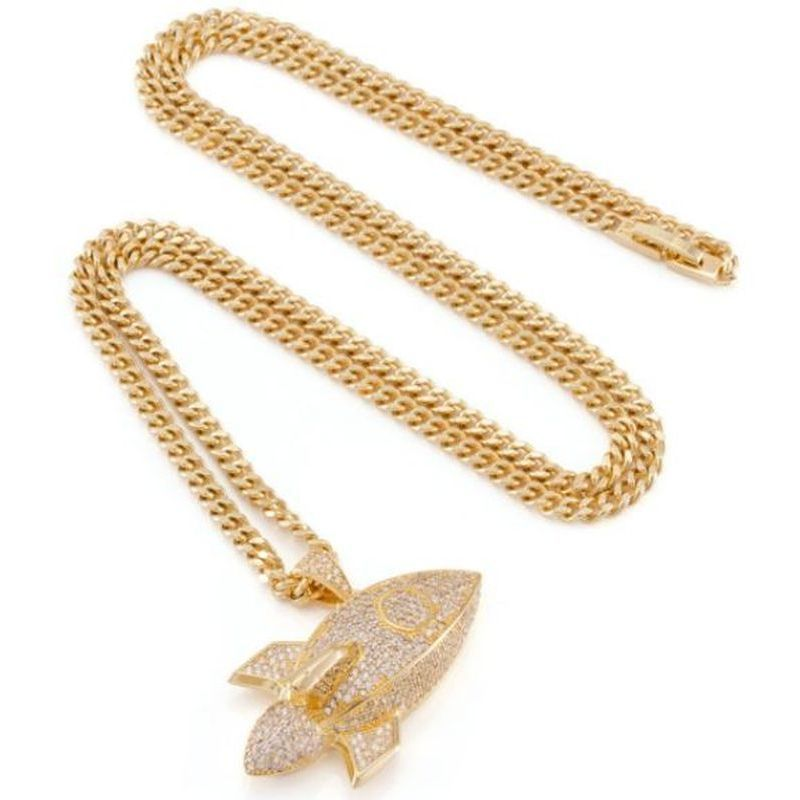 超人気★King Ice 14K Gold Rocket Emoji★【関税送料込】