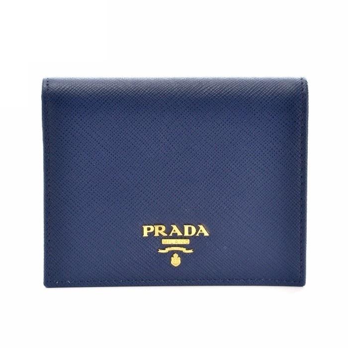 【PRADA】財布☆SAFFIANO METAL BLUETTE★2018春夏新作♪