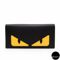 関税込FENDI BAGBUGS CONTINENTAL WALLET YELLOW BUGSEYE