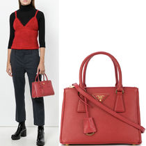 PR918 GALLERIA SAFFIANO LEATHER BAG SMALL