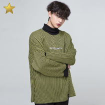 ◇NEVERCOMMON◇ oversized ストライプ ニット (black&yellow)