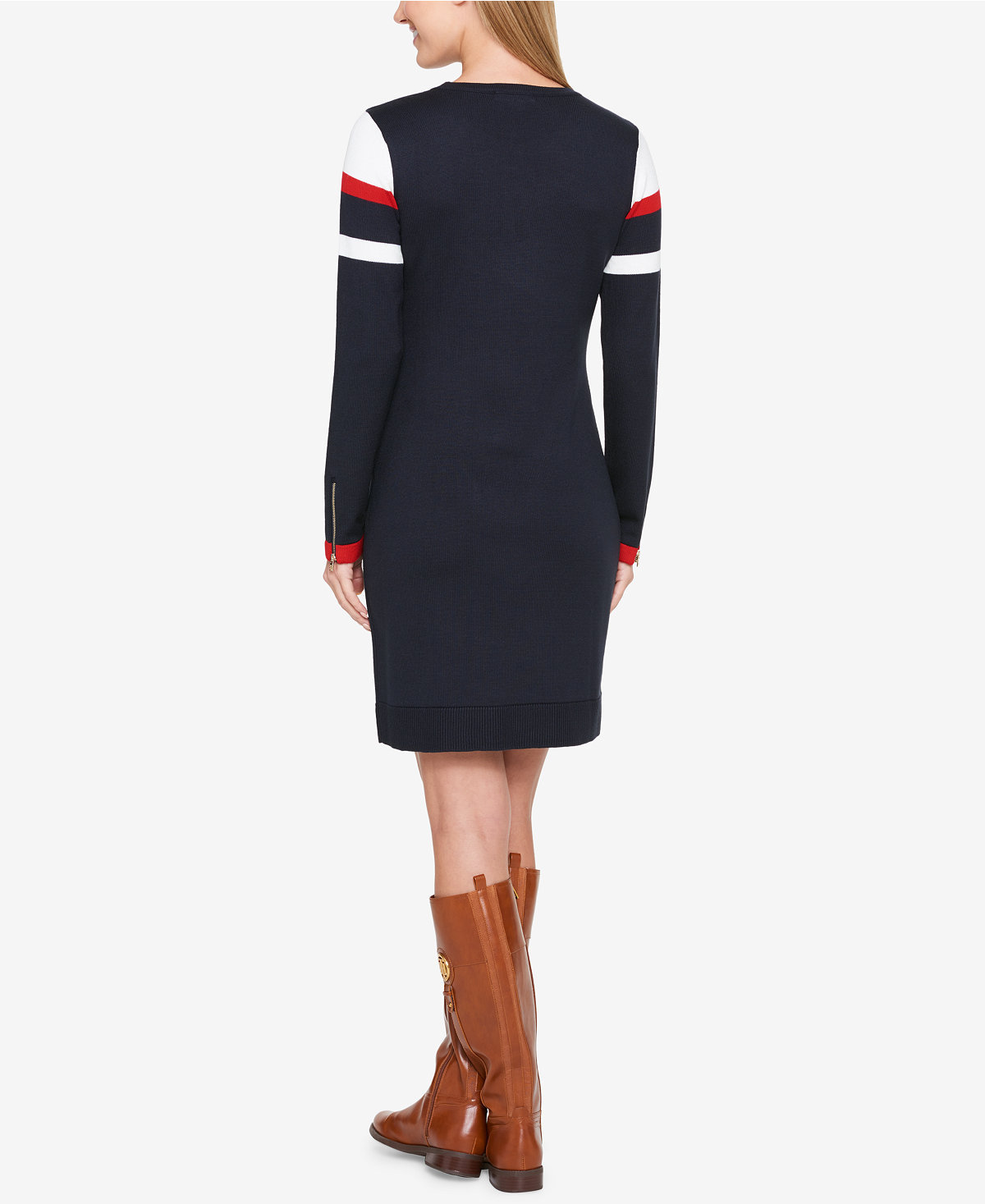 【Tommy Hilfiger 】ニットワンピ EColorblocked Sweater Dress