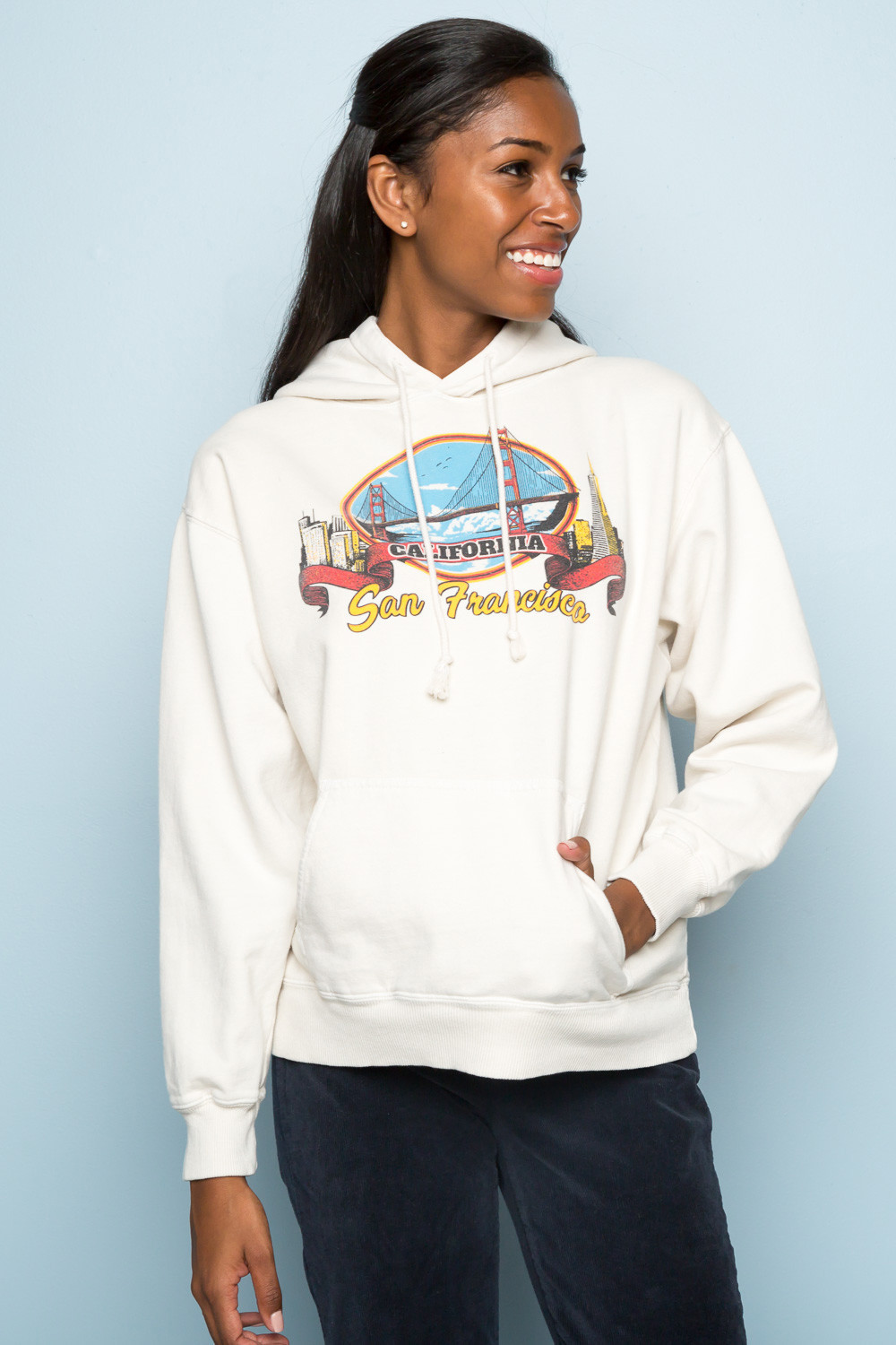 ★USA限定★新作 Brandy Melville/CHRISTY SAN FRANCISCO HOODIE