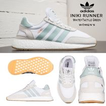 ADIDAS ORIGINALS INIKI RUNNER (White×Tactile Green) WOMEN'S