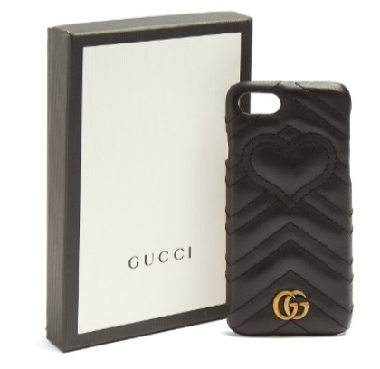 GUCCI  GG Marmont quilted-leather iPhone 7 case