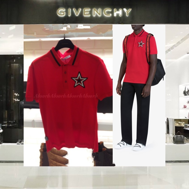 【18SS NEW】 GIVENCHY_men / STAR PATCHポロシャツRD
