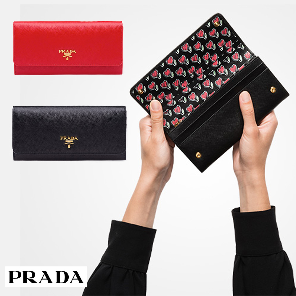 国内発関税込 2018AW PRADA Saffiano Leather Wallet