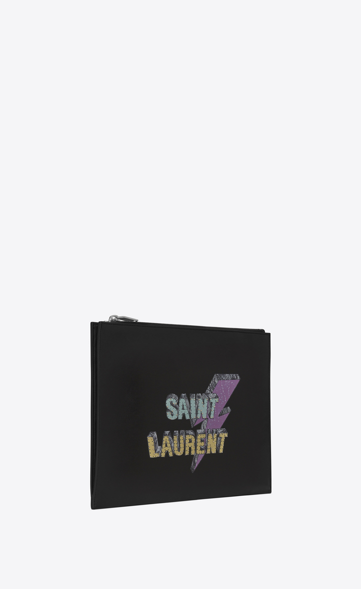 Saint Laurent SAINT LAURENT ECLAIR スタッズタブレットケース