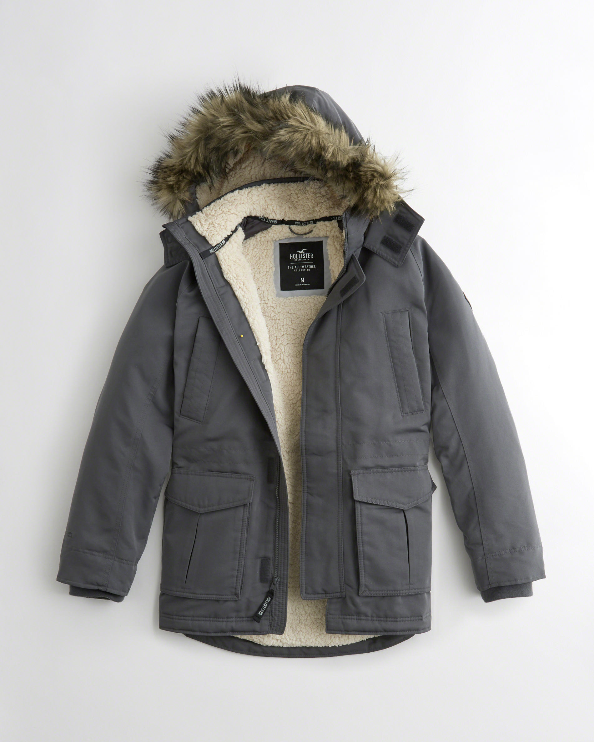 【Hollister】All-Weather Sherpa-Lined Parka☆裏ボア☆