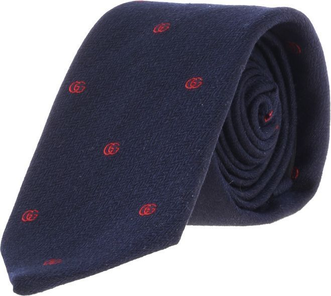 Gucci◆AW17/18お洒落 GG embroidered ウール silk tie