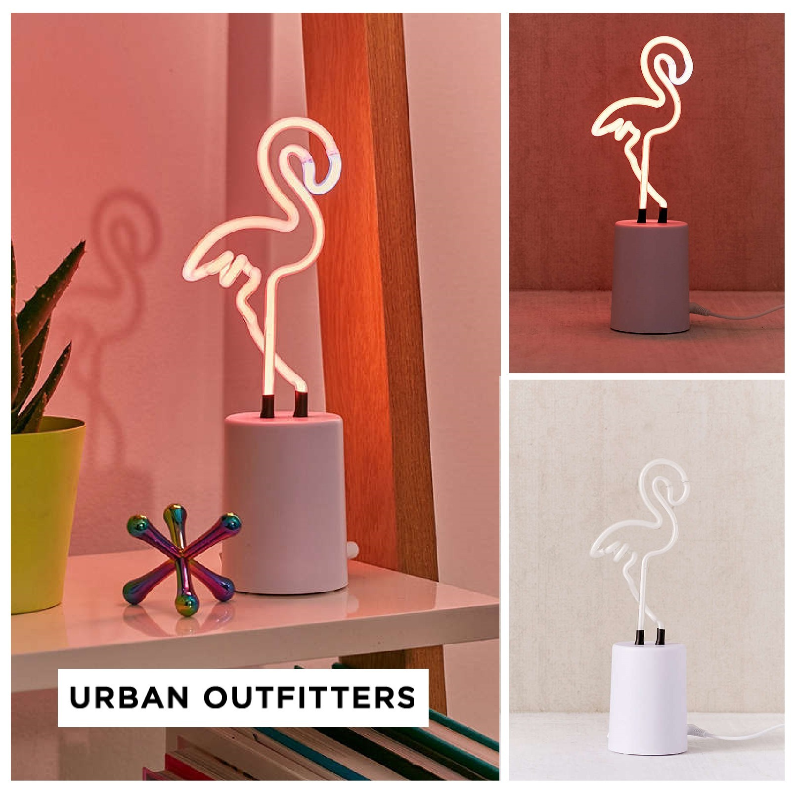 UrbanOutfitters☆Mini Flamingo Neon Sign Table Lamp☆税送込