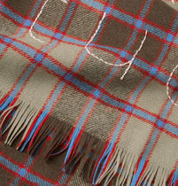 Acne☆Ontario Fringed Embroidered Checked Wool Scarf