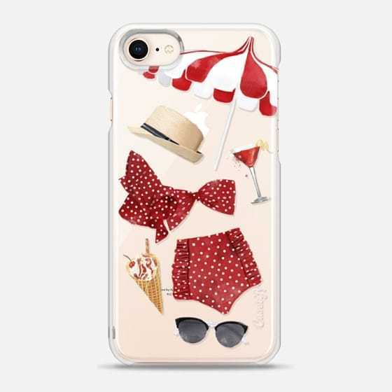 【Casetify】 ★ iPhone ケース ★ サマータイム in RED