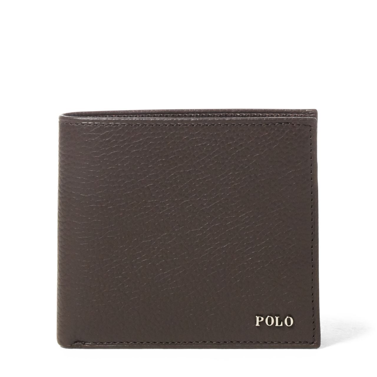 ◎送料込み◎Metal-Plaque Leather Billfold